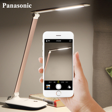 Panasonic Aluminum LED Eye Care Table Lamp Desk Student Reading Light Dimmable Adjustable Flexible Lighting LED Night Lamp Light цена 2017