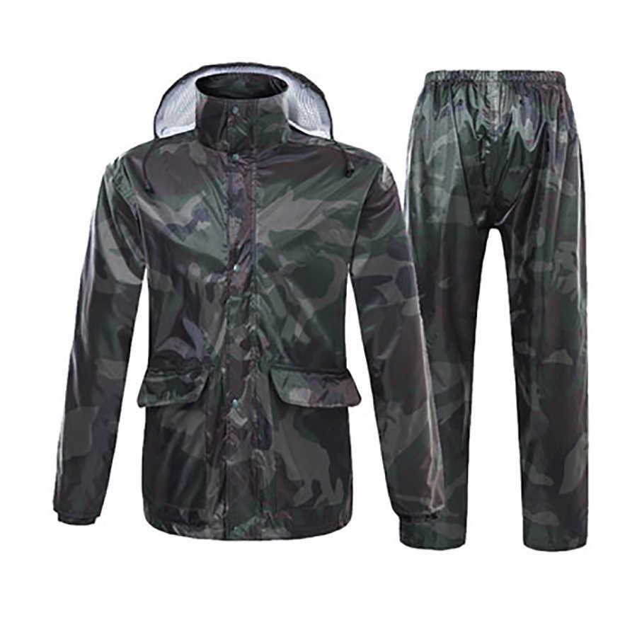 Casaco de chuva à prova dwaterproof água da motocicleta dos homens calças de chuva mulher terno cape gear kamp malzemeleri poncho moto elétrico adulto b50