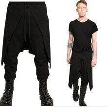 Zogaa, мужские шаровары, штаны в стиле хип-хоп, мужские повседневные брюки, полноразмерные Лоскутные штаны, черные, Hombre, мешковатые брюки