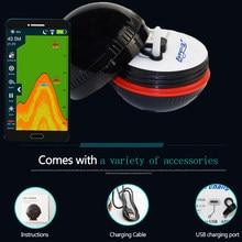 Inteligente sem fio bluetooth inventor de peixes 48 m/160ft sonar pesca no gelo sonar portátil fishfinder sonda de pesca lâmpada de peixes mar lago