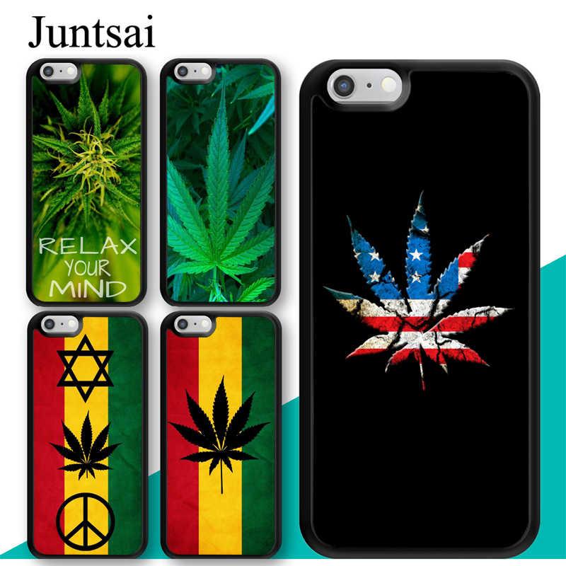 Leaf Pot Rasta Reggae Case For iphone 11 12 Pro Max mini XR XS MAX X 5S SE 2020 6S 7 8 Plus Cover Coque