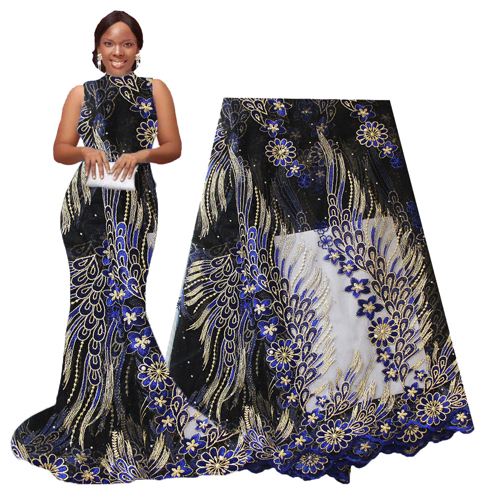Ourwin Nigerian Lace Fabric 2018 High Quality Lace For Party Weeding Dress Mesh Embroidered Tulle French African Lace Fabric