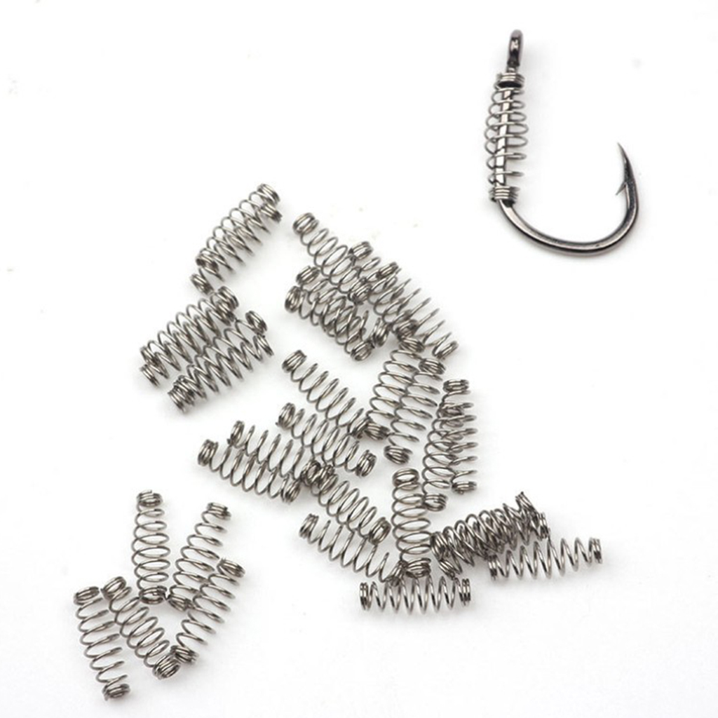 <font><b>100pcs</b></font> Fishhooks Barbed <font><b>Fishing</b></font> <font><b>Hook</b></font> Stainless Steel Spring Accessories <font><b>Fishing</b></font> Tackle <font><b>Fishing</b></font> <font><b>Hooks</b></font> Centering Spring Pin image