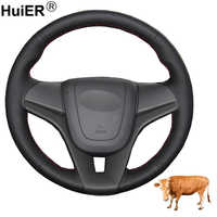 Hand Sewing Car Steering Wheel Cover Top Layer Cow Leather Volant For Chevrolet Cruze 2009-2013 2014 Aveo 2011-2014 Orlando 2010