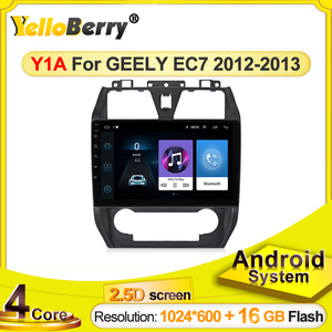 2.5D Screen Car DVD For Geely Emgrand EC7 2012 2013 Multimedia GPS Radio Stereo GPS Navigation Tape Recorder support SWC WIFI BT
