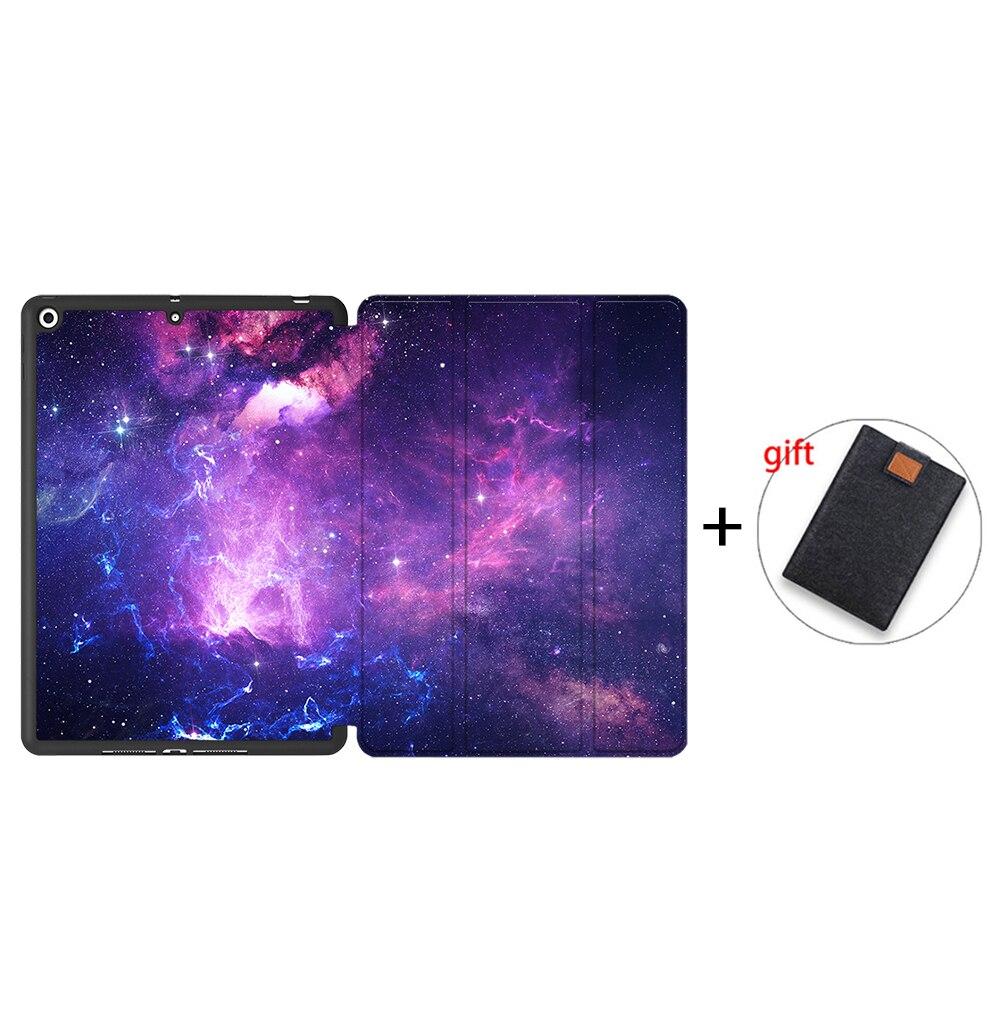 IPBC12 Orange MTT Tablet Case For iPad 10 2 7th 8th Generation 2020 TPU Back PU Leather Flip