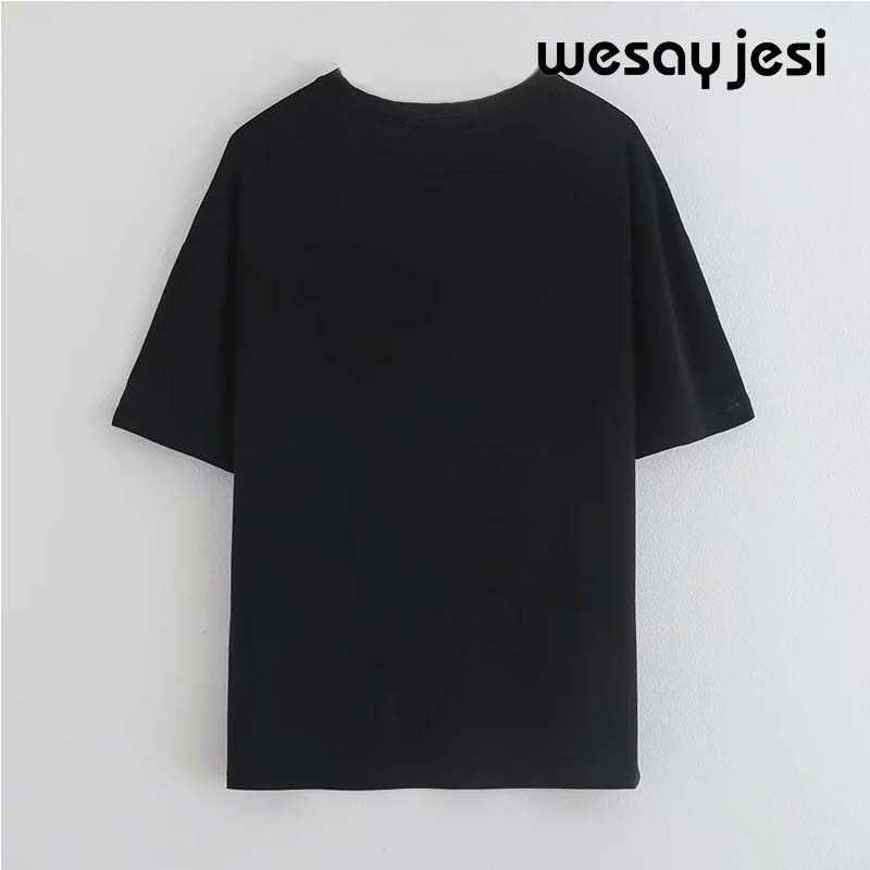 2019 夏のファッション tシャツ女性原宿韓国服ストリート少女漫画プリント綿 100% o ネック tシャツトップスプラスサイズ