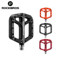 ROCKBROS Nylon Bearings Bike Flat Pedals Ultralight Road BMX Mountain Bicycle Pedal Multi-Colors Cycling Accessories Bike Parts