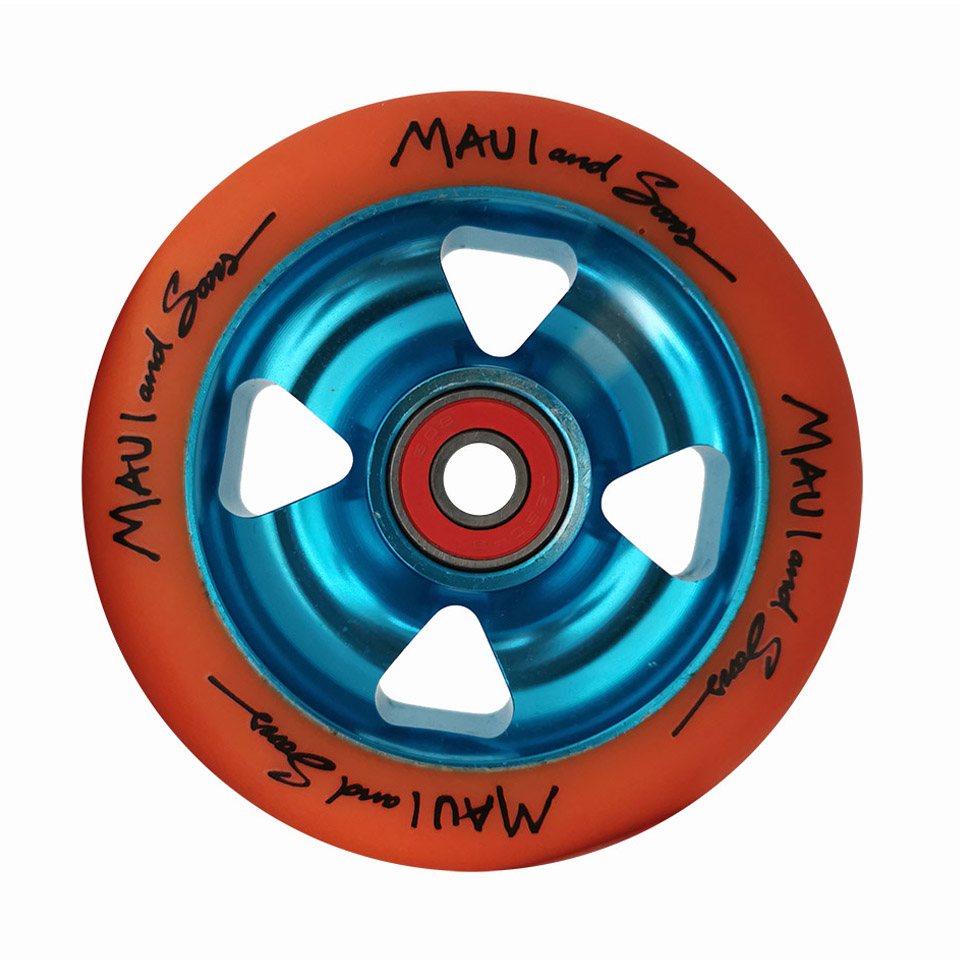 2 Pieces/lot 88A 100mm Scooter Wheels With Bearings Alloy Steel Wheel Hub High Elasticity And Precision Speed Skating Wheel A116