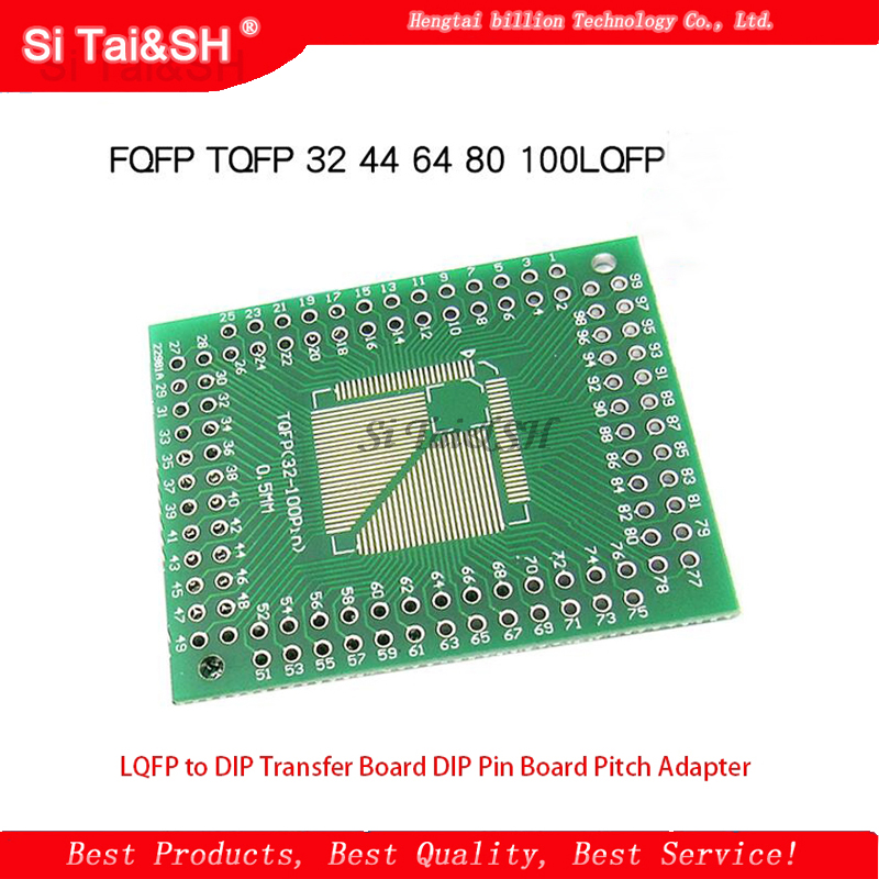5PCS FQFP TQFP <font><b>32</b></font> 44 64 80 100 LQFP zu DIP Transfer Board DIP <font><b>Pin</b></font> Board Pitch <font><b>Adapter</b></font> image