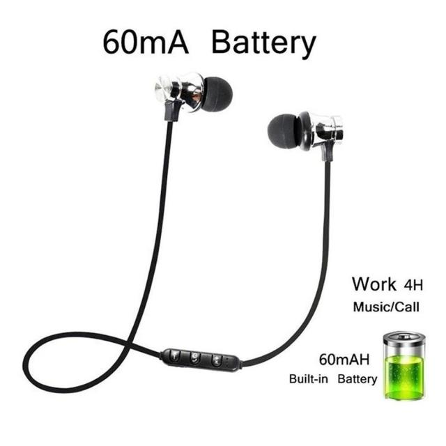 Magnetic Wireless bluetooth Earphone XT11 music headset Phone Neckband sport Earbuds Earphone with Mic For iPhone Samsung Xiaomi 3