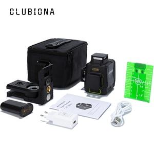 Image 3 - Clubiona CE certificated 3D Line Laser Level 360 Horizontal and Vertical German Laser diode Laser Line with Laser Receiver