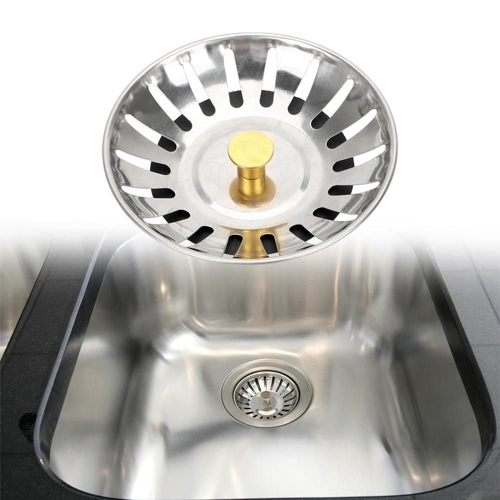 Bathroom Hair Catcher Kitchen Accessories 1PC Waste Catcher Drain Kitchen Sink Strainer Stopper Stainless Steel Waste Plug