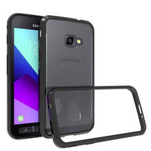 Soft Silicon TPU/PC Case For Samsung Galaxy Xcover 4 Fundas Capa Shockproof Crystal Clear Shell Hard Back Cover For X Cover 4