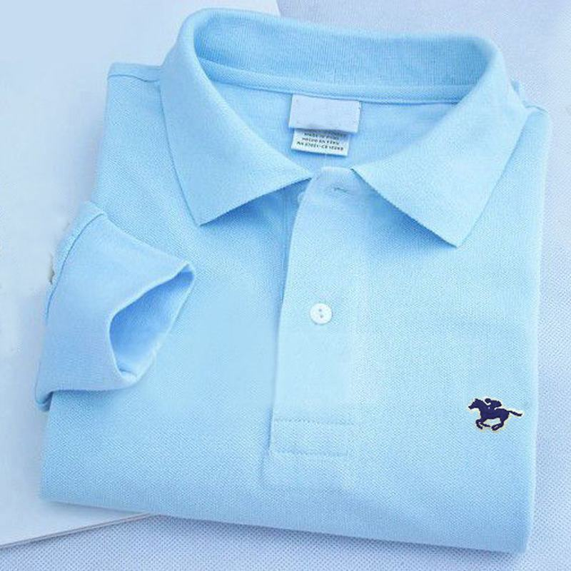 High Quality 2019 New Men's Long Sleeve Polos Shirts Small Horse Brand Casual Cotton  Mens Lapel Polos Shirts Fashion Mens Tops
