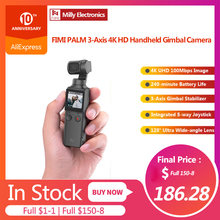 Fimi Palm 3-Axis 4K HD Handheld Gimbal Kamera Stabilizer 128 ° Sudut Super Anti Goyang Menembak smart Track Built-In Bluetooth(China)