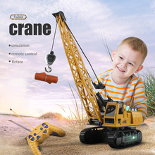 Newest Remote Control Engineering Car Simulated Crawler Crane Lights Sound 12CH Colorful Lighting RC Crane Toys for children Gif cheap LISM Plastic CN(Origin) 21*14 5*50 5cm Not measured 8062 RC Car Crane Engineering Car crane 4 8V about 15 meters MODE2 1 month