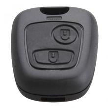 цена на 1pcs Durable Black 2 Remote Buttons Key Blade Fob Case Replacement Shell Cover fit for PEUGEOT 106 107 206 207 307 406 407