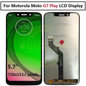 Image 2 - Display LCD originale G7 per Motorola Moto G7 Power Display XT1955 LCD G7 Plus Touch Screen Digitizer G7 Play LCD di ricambio XT1952 LCD