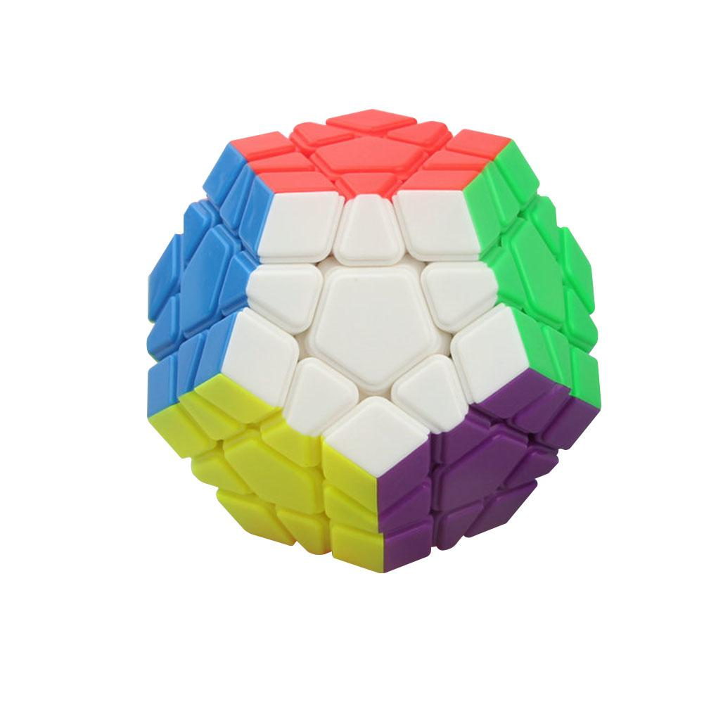 YJ RUIHU Megaminx Magic Cube Colorful 12 Facets Speed Puzzle Cubes Kids Toys Educational Intelligence Toy