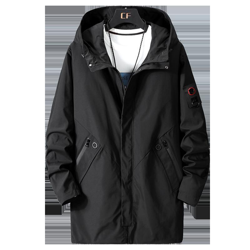 2020 large size 10XL 9XL 8XL 7XL spring autumn overcoat long hooded windbreaker men jacket men's tooling jacket loose 300 kg top