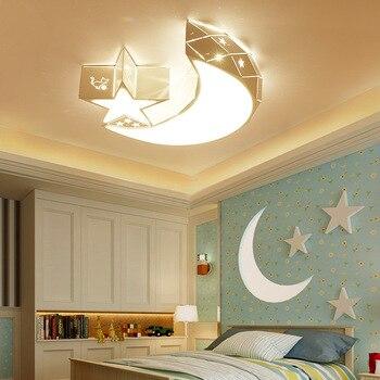 Led ceiling lamp children's room moon lamp boy girl bedroom warm romantic cartoon personality lamp