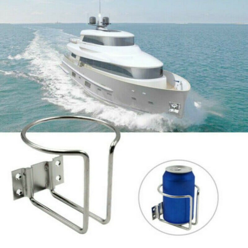 1 stücke Edelstahl Trinken Flasche Können Tasse Halter Boot Marine Yacht Camper Van Ring Motorrad Tasse Halter Auto Untersetzer