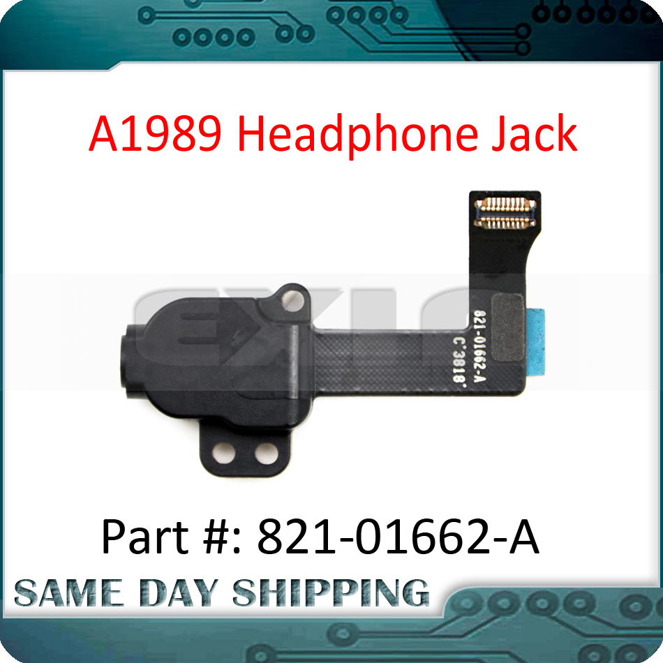 New Latpop A1989 Headphone Audio Jack Flex Cable 821-01662-A For Macbook Pro Retina 13