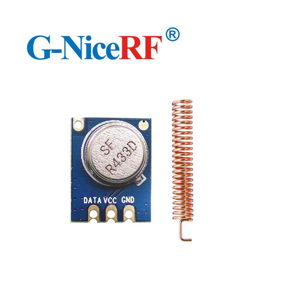 5PCS 433MHz 150 Meters Wireless Module ASK Transmitter STX882 + 5PCS Copper Spring Antenna