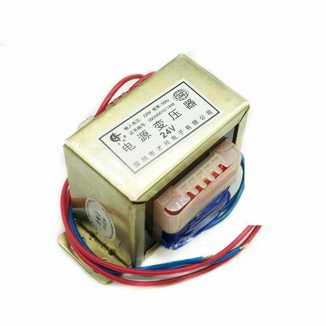 כוח שנאי 80W DB 80VA 220V כדי 24V 3.3A AC AC24V שנאי טהור נחושת