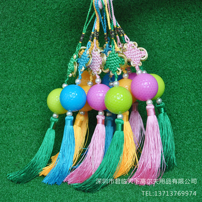 Brand New Golf Crystal Ball Chinese Knot Pendant Creative Gifts Car Hanging Decoration Exquisite Gift Ball