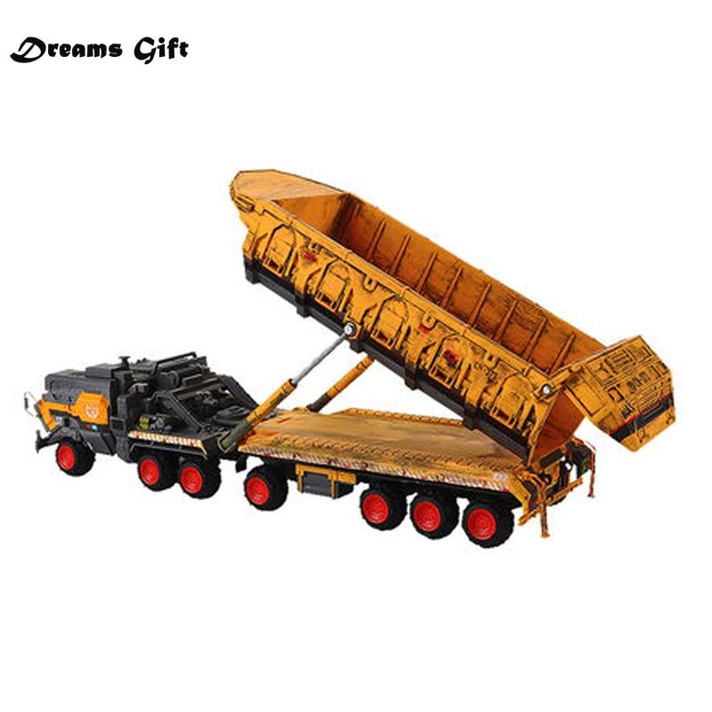 The Wandering Earth Dumper Truck Model 1/144 Diecast Metal Car Models High Simulation Carrier Model Alloy Truck Model Car Toys