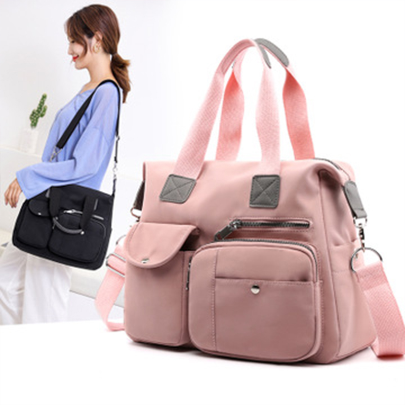 Nylon Mummy Maternity Baby Nappy Stroller Bag Large Capacity Diaper Travel Backpack Nursing Bag Baby Care Women's Fashion Bag