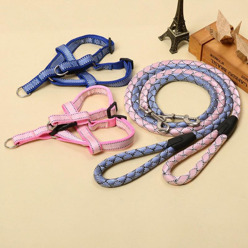 Dog Chain Thoracic Traction Dog's Straps Lanyard Chest Traction Teddy Pomeranian Pet Supplies Suspender Strap Lanyard Dog's Stra