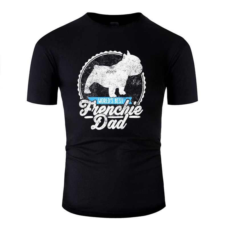 Komik fransız Bulldog kabadayı Frenchie baba Frenchy köpek hediye gömlek erkekler mizah erkek t shirt yenilik erkek