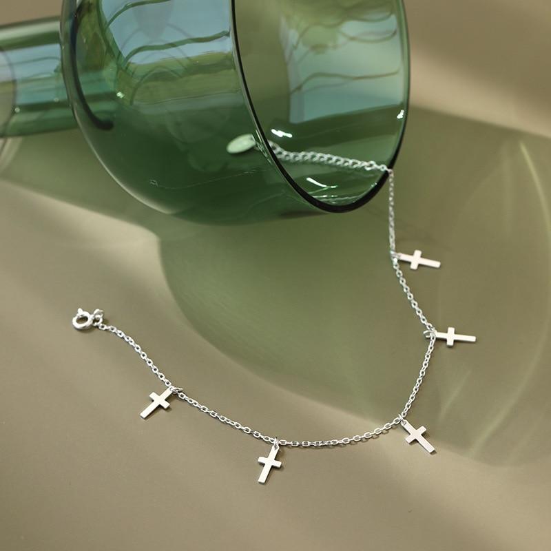 925 Sterling Silver Anklets For Women Fine Jewelry Argent Bijoux Tobilleras De Plata De Ley Bracelet Na Noge Enkelbandje Zilver