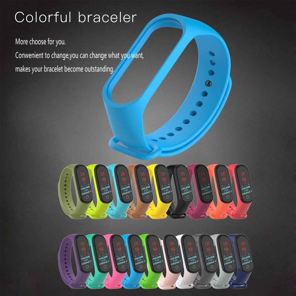 צבעוני mi band 4 אביזרי pulseira mi band 4 רצועת החלפת סיליקון Wriststrap עבור xiaomi mi4 חכם צמיד צמיד