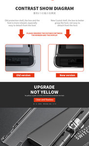 Прозрачный чехол для ПК со съемным кристаллом для Nintendo NAND Switch NS NX, жесткий прозрачный чехол-накладка, Ультратонкий чехол