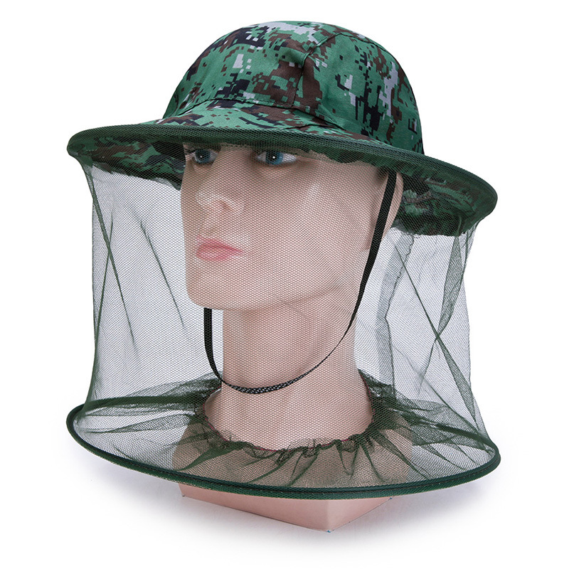 Outdoor Mosquito Resistance Bug Insect Bee Net Mesh Head Face Protector Hat