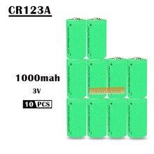10X16340 1000mah 3v cr123a 16340 аккумуляторная батарея 3,0 v rcr123a 16340 литиевых батарей