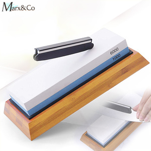 Image 1 - Knife Sharpener Whetstone Dual Side Girt Kitchen Sharpening Stone Grindstone Oilstone Honing Tool 240 600 800 1000 3000 6000 Set