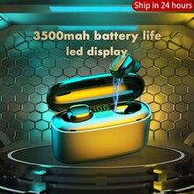 3500mah LED Bluetooth Wireless Earphones Headphones TWS Touch Control Earbuds Sp