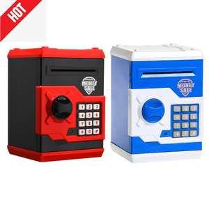 Money-Box Cash-Deposit-Machine Coin Piggy-Bank Gift Safety Atm Mini Kids Electronic Children