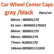 Wheel-Center-Hub-Cap Cover A3 146mm 68mm 20pcs 60mm 69mm 61mm 77mm for A1 A2 A4 A5 A6