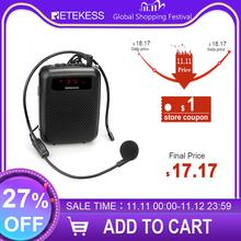 RETEKESS PR16R mégaphone Portable 12W FM enregistrement amplificateur vocal professeur Microphone haut parleur avec lecteur Mp3 FM Radio enregistreur