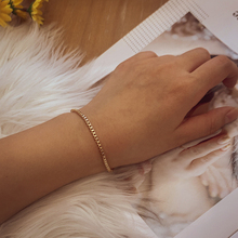 Bracelet Chain Thin Gold-Color Jewelry-Accessories Charm Trendy Womens Box