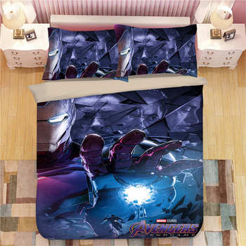 The Avengers Hero Iron Man bedding set King size quilt duvet covers for Boys Coverlets Children's Bed Sheet Twin Kids bedroom