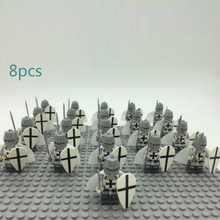 20/ 8pcs Military Plastic Soldier Cavalry Series Figurines Philip Orc Assembled Building Blocks Children's Birthday Gift Toys