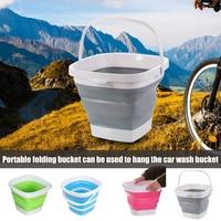 Balde de plástico dobrável dobrável quadrado balde de água pesca portátil ao ar livre dc120|Baldes| |  -