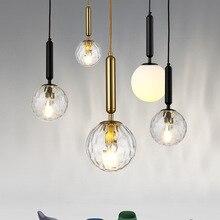 Nordic bedroom bedside pendant lamp restaurant bar aisle creative 15cm / 20cm glass ball lights